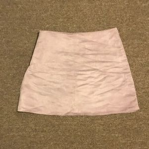 Lilac Suede Mini Skirt NWOT